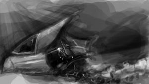 Speed Painting Studies - March 12 12 Crash Landing by DemonicMasterpiece