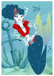 Mermaid Pin Up by VirtualBarata