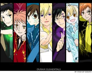 Ouran Elementals wallpaper by Star-of-Seraph