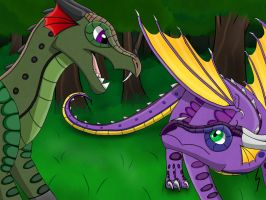 Contest Entry (Anaconda and Macaw) by xXShadowFang99Xx