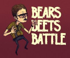 Battlin' Dwight by paperbeatsscissors