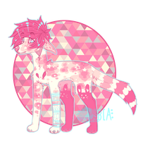 - Pink Bunny Auction - by BleedingColorAdopts