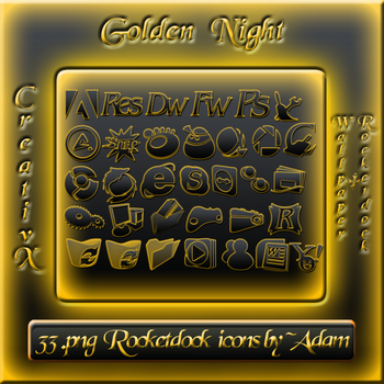 Golden Night RD Icons by iBFAM