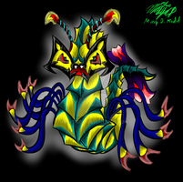 Wormal Monster Full Color by MaryDKidd