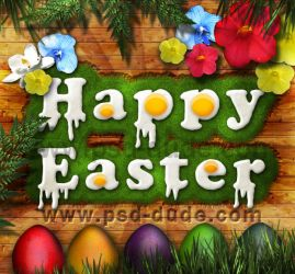 Easter Egg Text Effect by PsdDude