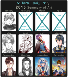Touya Ouji's 2015 Art Summary by Ouji-Studio