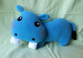 Blue Big Tooth Hippo by XOFifi