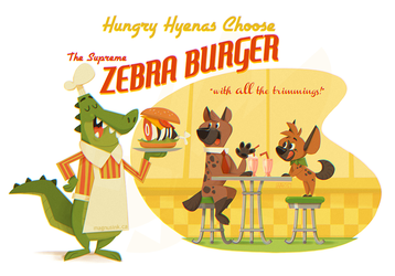 Hungry Hyenas Choose by weremagnus