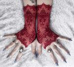 Ayanna Long Lace Fingerless Gloves by ZenAndCoffee