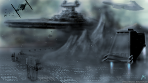 The Ground Assault (Battle of Hoth) by DarthTemoc