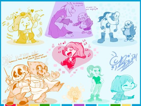 Undertale Rainbow Hued Moments by BeadzyAi