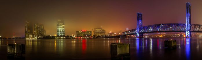 Downtown Pano of Duval by RoyalImageryJax