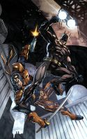 Batman vs. Deathstroke by jey2dworld