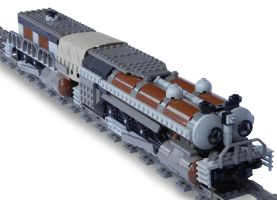 'Jormungandr' Double-Boiler Locomotive by RRaillery