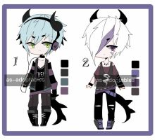 black dragon adoptable batch CLOSED by AS-Adoptables