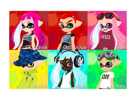Splatoon O.Cs by RoseCoral2017