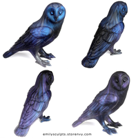 Sky Owl Familiars by emilySculpts