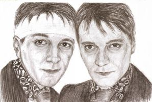 James and Oliver Phelps by MajaGantzi