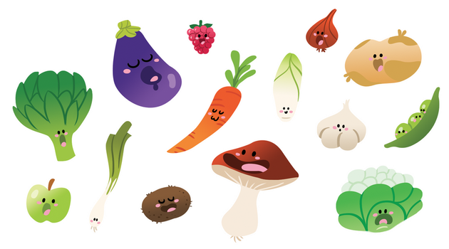 Fruits + Vegetables 3 by AmyBunny