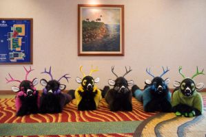 Row of Prize Bucks by temperance