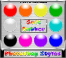 Photoshop Styles - Soft Rubber by JINXD-PARADOX