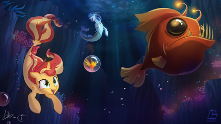 Sunset and Sonata Under the sea - by Lum and Light by Light262