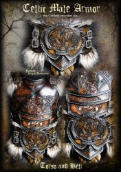 Celtic Male Armor : Torso and Belt by Deakath