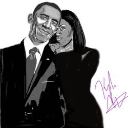 Good bye to the Obamas: Barack  Michelle by blackpride-brownlove