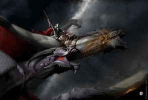 Dragon knight by DavidGaillet