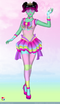 Sailor Senshi: Original Character ~Rainbow Candy~ by LaKiraRee