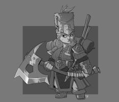 Dwarf Dragoon by cwalton73