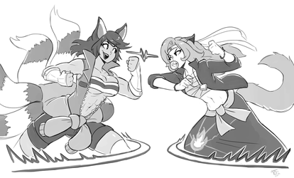 Wanderers/ Ria vs Shirley! Training by BraveDraws