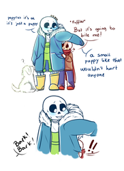 Scared and small part 1 (UNDERTALE) by Galexia-Nova