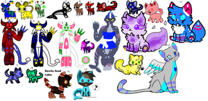 Unsold adoptables (All must go/ read description) by Sweetnfluffy-adopts