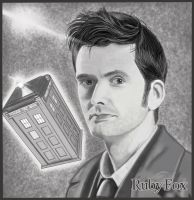David Tennant, as Doctor Who by RubyFoxGraphix