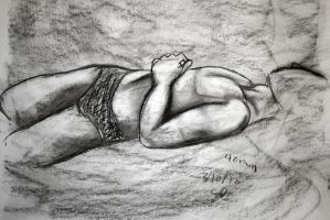 Figure Drawing Class Study 1 by lovehate-eternal