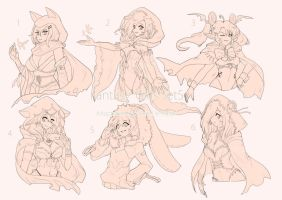 [CLOSED]AUCTION Fantasy girls set5 by WhiteLie-Adopt