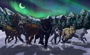 night of the snowy march by mangakasan