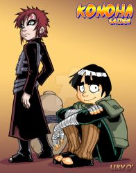 Konoha Gaiden: Rock Lee + Gaara by Uky0