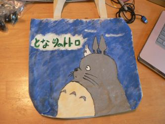 Totoro Canvas bag view 1 by alchemymeg