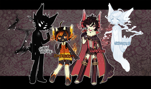 ::Adoptables:: Blakrye Halloween B1 by Jotaku
