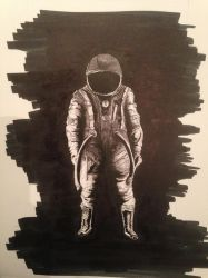 Astronaut - sepia version by mirceabotez