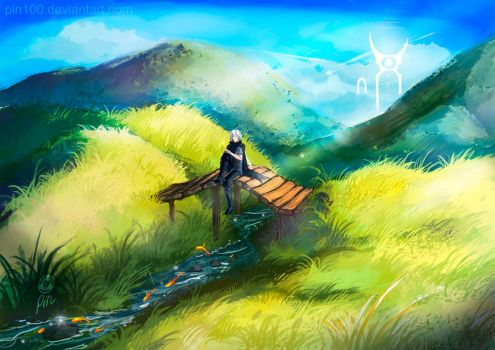 Peaceful day - uncomposed speedpainting by pin100