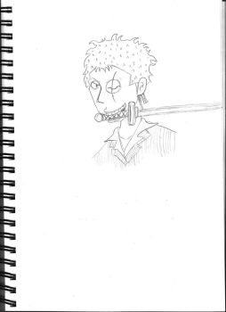 Zoro pencil by Atomicvege