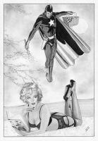 Marilyn Monroe Starman Golden Age Pulp by TimGrayson