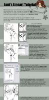 Luni's Lineart Tutorial by luniara