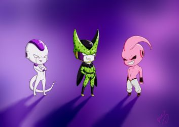 Villians of DBZ by penutbutterbiscuit