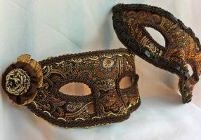 Paisley Couple's Masquerade Masks by DaraGallery