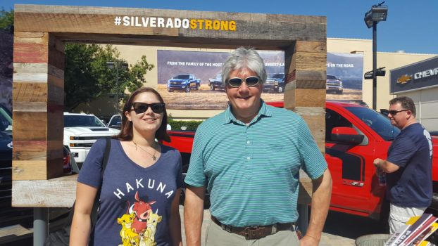 Me and My Dad at The Chevy Silvarado's 2016 by blah1200