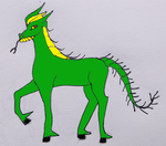 Green and yellow Dragon by Greenhorngal